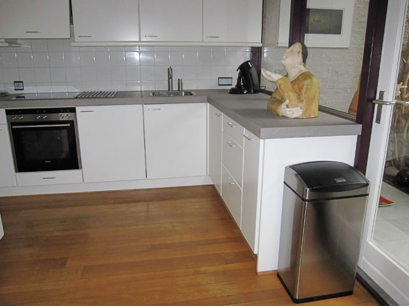Renovatie werkblad in keuken Houten